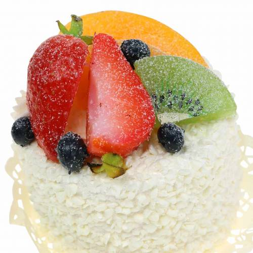 Deko Törtchen mit Früchten Erdbeere Food-Attrappe 7cm