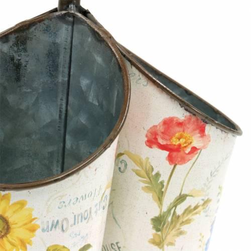 Pflanztopf  Blumendesign mit Spatengriff 3er H27cm