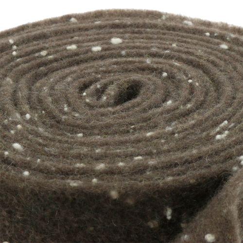 Topfband Filzband Braun mit Punkten 15cm x 5m