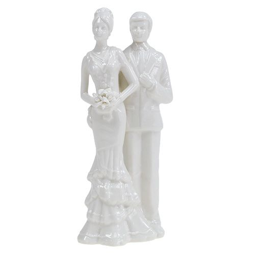 Tortenfigur Brautpaar weiß 17cm