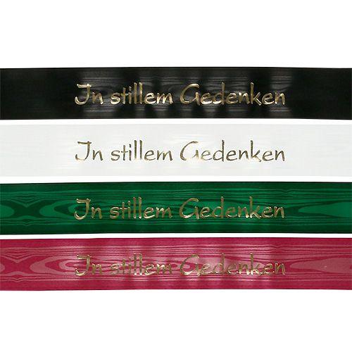 """Trauerband farbig """"In stillem Gedenken"""" 12St"""