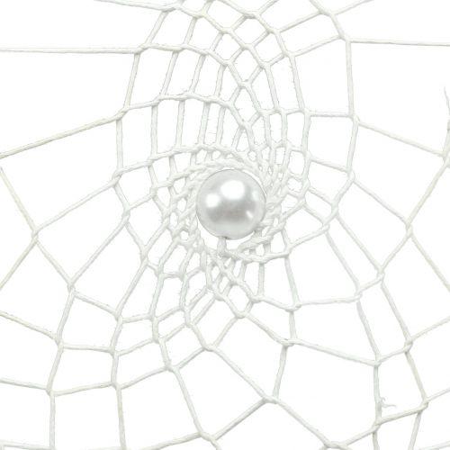 Traumfänger Herz Weiß 55cm 2St