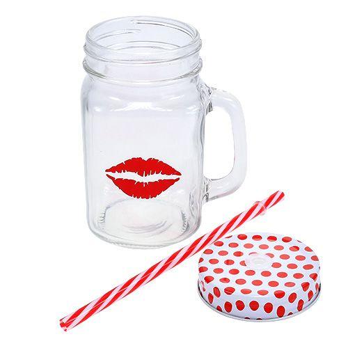 Trinkglas mit deckel henkel 7cm h13 5cm preiswert for Deckel trinkglas