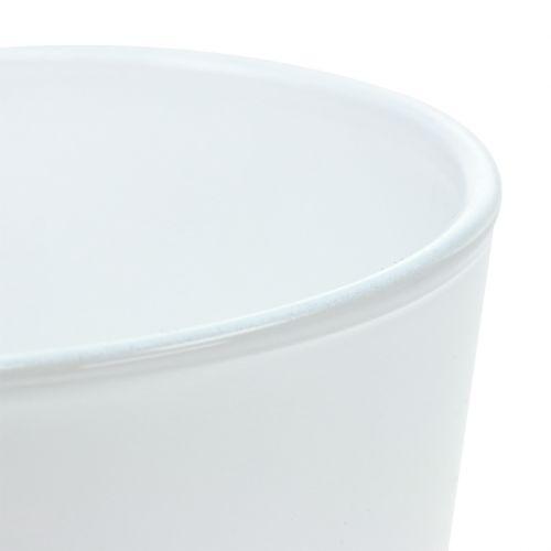 Übertopf aus Glas Weiß Ø11,5cm H11cm