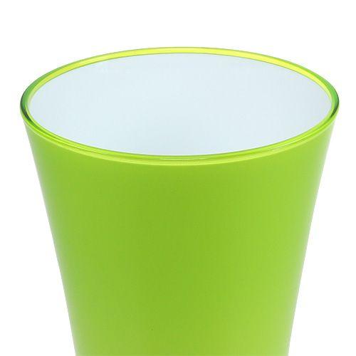 "Vase ""Fizzy"" Ø20cm H35cm Apfelgrün, 1St"