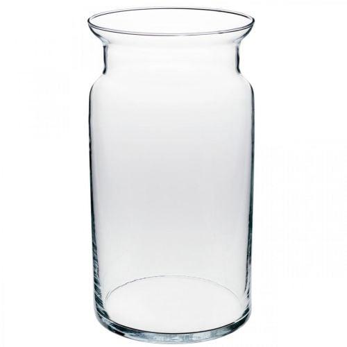 Vase aus Glas, Dekovase, Kerzenglas Ø15,5cm H28cm