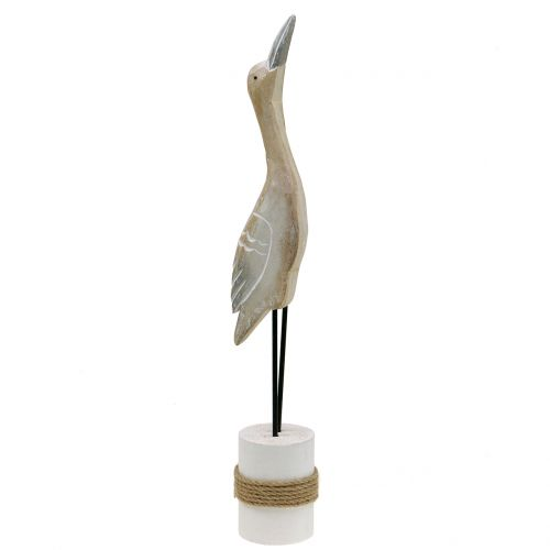 Vogel Skulptur aus Holz H40cm