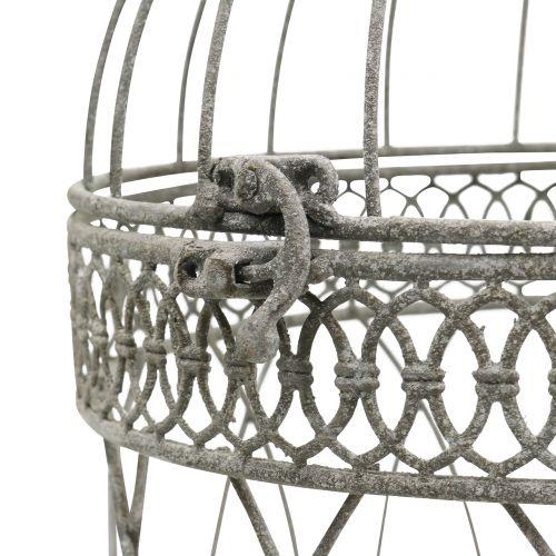 Vogelvoliere Vintage rund Grau Ø22/18cm 2St