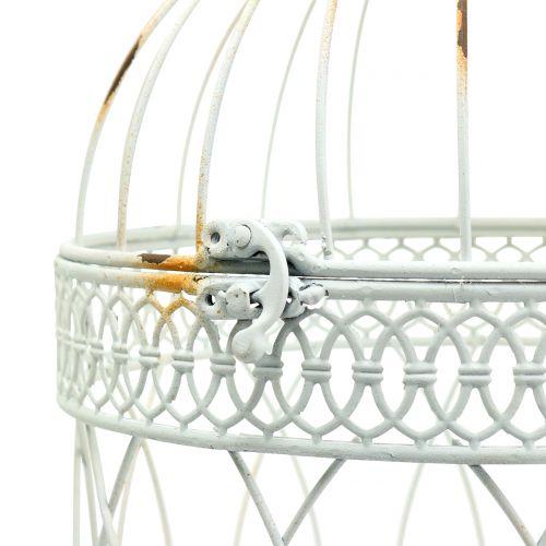 Vogelvoliere Vintage rund Weiß  Ø22/18cm 2St