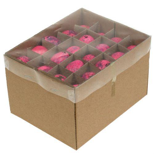 Wachteleier Pink 3,5-4cm Ausgeblasene Eier Osterdekoration 50St