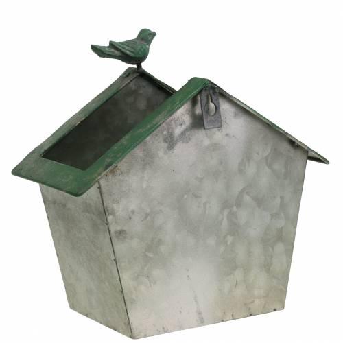 Vogelhaus aus Metall zum Bepflanzen H25,5cm