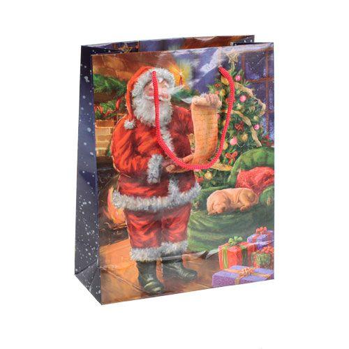 Papiertragetasche Santa 11cm x 13,5cm