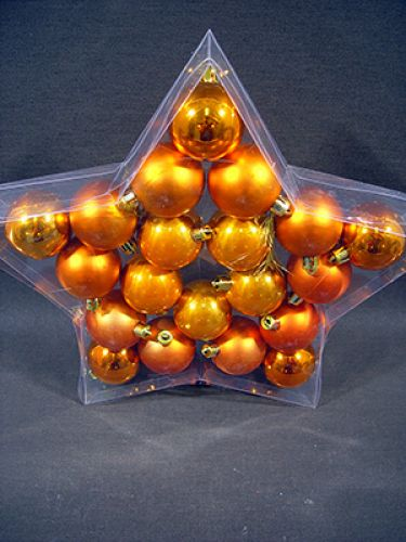 weihnachtskugel plastik 6cm orange 20st preiswert online kaufen. Black Bedroom Furniture Sets. Home Design Ideas