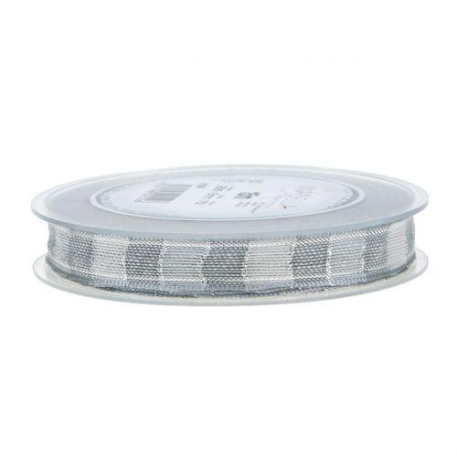 Weihnachtsband Grau 15mm 15m