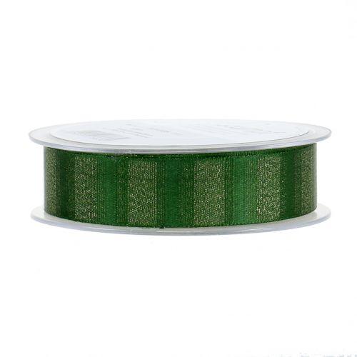 Weihnachtsband mit Goldfäden Grün 25mm 20m