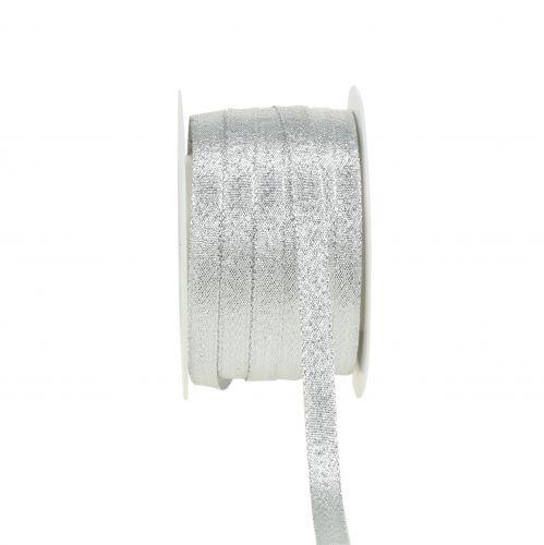 Weihnachtsband Lurex Silber 10mm 50m