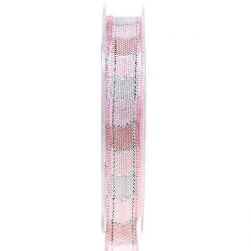 Weihnachtsband Rosa 15mm 15m