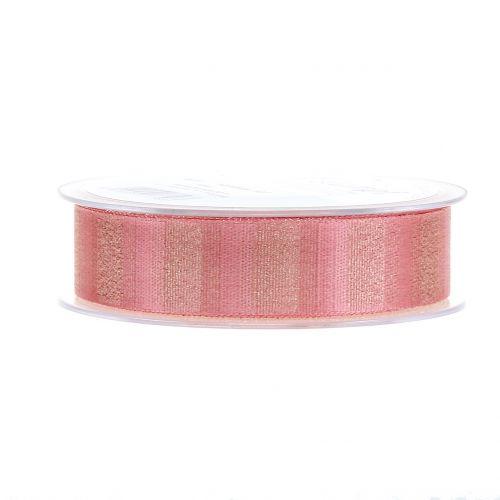 Weihnachtsband mit Goldfäden Rosa 25mm 20m