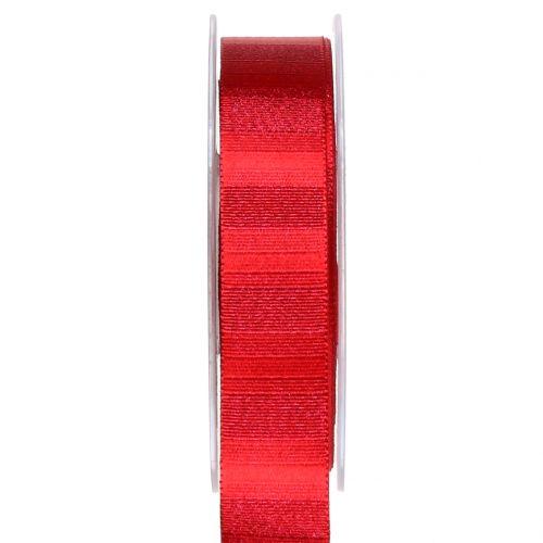Weihnachtsband mit Goldfäden Rot 25mm 20m