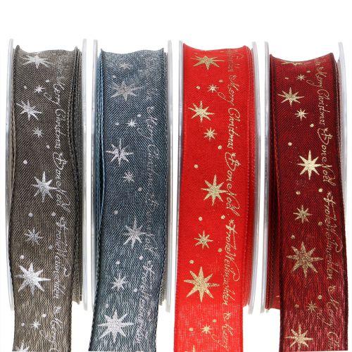 Weihnachtsband mit Spruch 25mm 20m