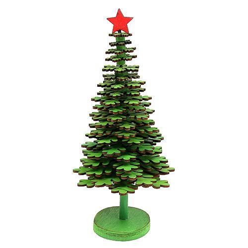 Weihnachtsbaum Schneeflocken grün 25cm