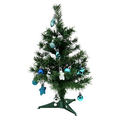 Weihnachtsdeko Für Baum.Weihnachtsdeko Mini Baum Blau Sort 40cm