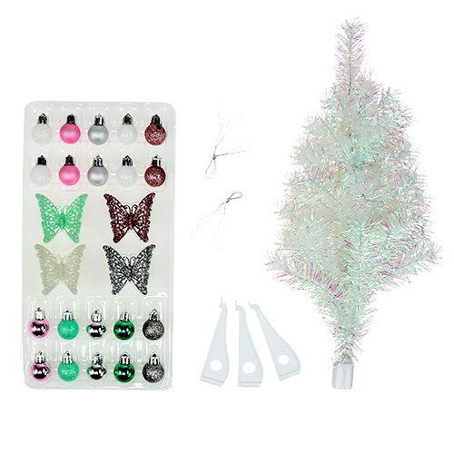 Weihnachtsdeko mini baum bunt 43cm preiswert online kaufen for Weihnachtsdeko baum
