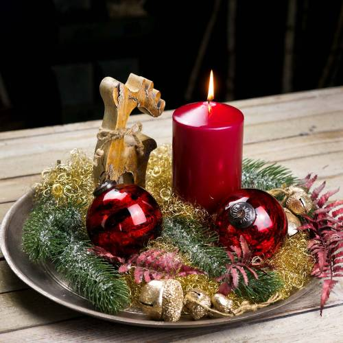 Christbaumschmuck Weihnachtskugel Glas Rot Ø10cm 4St