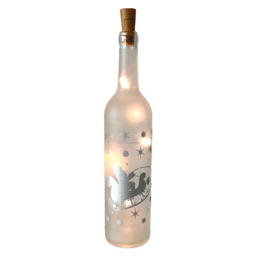 Weihnachtsdeko Glasflasche Tannen Dekor mit Licht