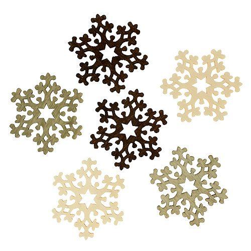 weihnachtsdeko schneeflocken 4cm 3 farbig 72st preiswert online kaufen. Black Bedroom Furniture Sets. Home Design Ideas