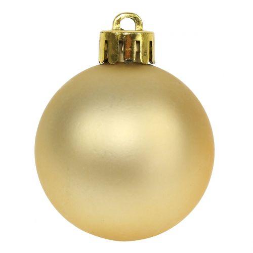 Weihnachtskugel Gold klein Ø4cm 16St