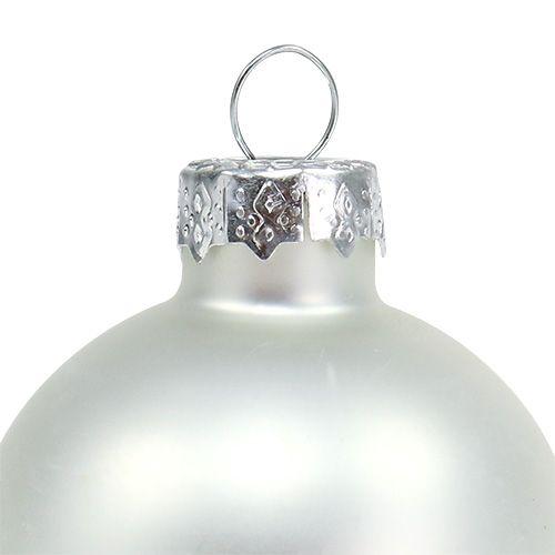 Weihnachtskugel Ø4cm Silber Glanz/Matt 24St