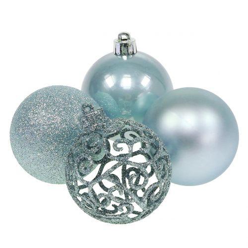 Weihnachtskugel Hellblau Ø6cm 16St