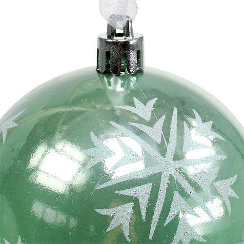 Weihnachtskugel Ø8cm Hellgrün Plastik 1St