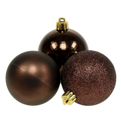 100 Weihnachtskugeln 2 Farbig weiß und Gold Passend mit Haken glänzend bis 6 cm