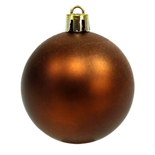 weihnachtskugel plastik 6cm braun gold 20st preiswert online kaufen. Black Bedroom Furniture Sets. Home Design Ideas