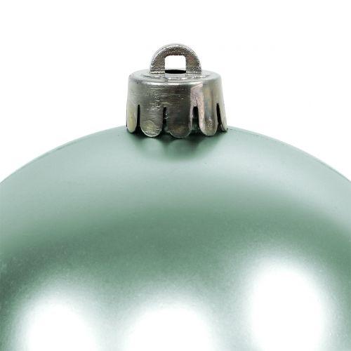 Weihnachtskugel Bruchfest Hellgrün sortiert Ø10cm 4St