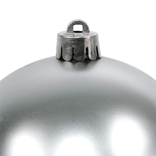 Weihnachtskugel Silber Ø10cm 4St