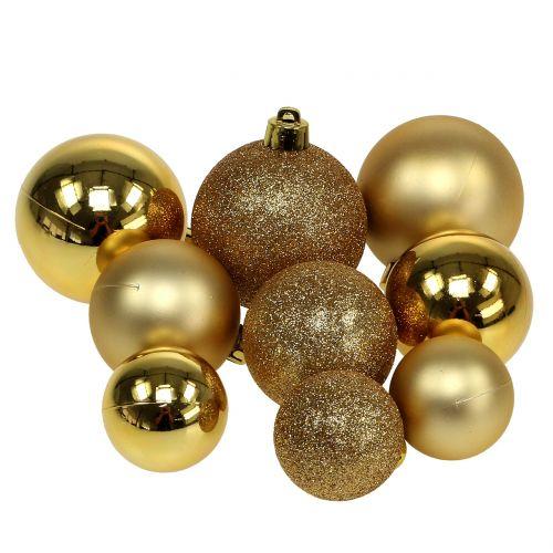 Weihnachtskugel Gold Ø3,5cm - Ø5,5cm 30St