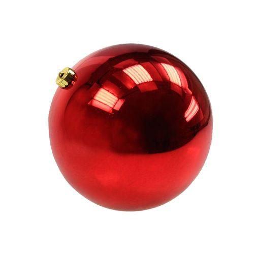 Weihnachtskugel Plastik klein Ø14cm Rot 1St