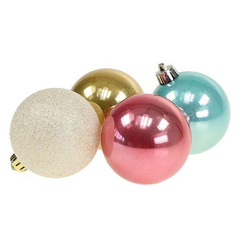 Weihnachtskugel Set Plastik Pastellfarbig O6cm 30st Preiswert Online