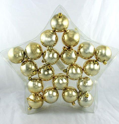 weihnachtskugel plastik 6cm gold 20st preiswert online kaufen. Black Bedroom Furniture Sets. Home Design Ideas