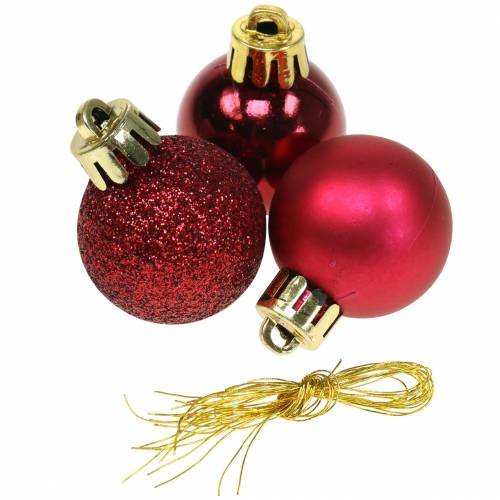 Christbaumschmuck Weihnachtskugel Rot 3cm 14St