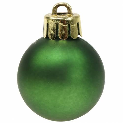 Christbaumschmuck Weihnachtskugel Grün 3cm 14St