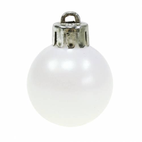 Christbaumschmuck Weihnachtskugel Weiß 3cm 14St