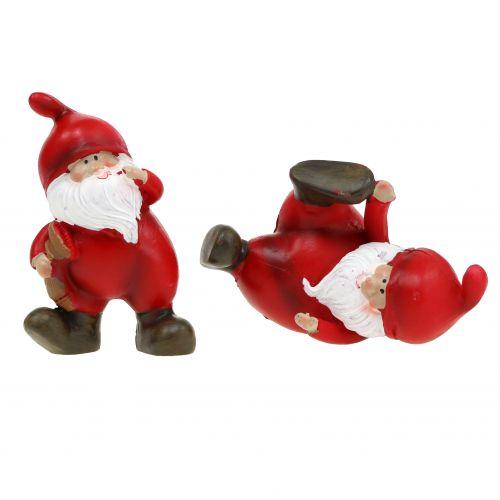 Weihnachtsmann 5-7,5cm Rot 4St
