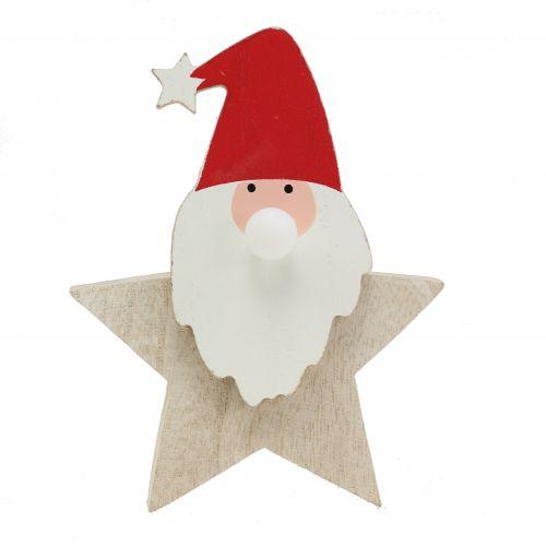 Weihnachtsmann mit Licht Natur, Rot 15cm