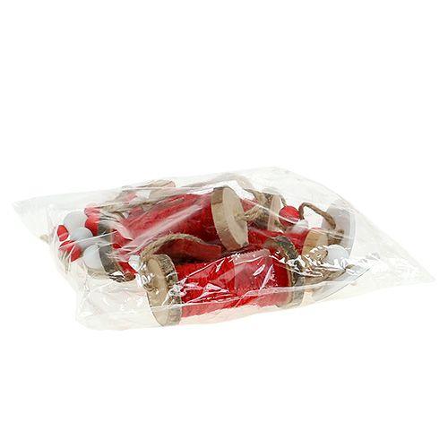 weihnachtsschmuck garnrolle zum h ngen rot 4st preiswert. Black Bedroom Furniture Sets. Home Design Ideas