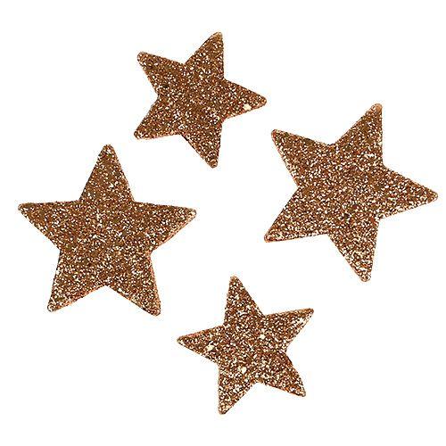 Weihnachtssterne Kupfer Glittersterne Streudeko 40St