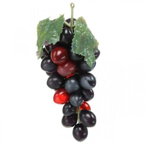Deko Weintraube Schwarz Deko-Obst Künstliche Trauben 15cm